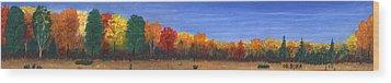 Colors Of Fall Wood Print