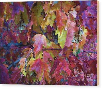 Colors Of Fall Wood Print by Janice Westerberg