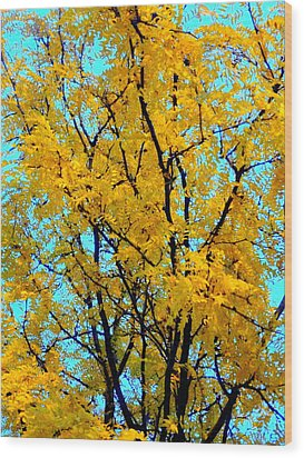Colors Of Fall - Smatter Wood Print