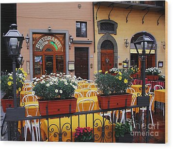 Colors Of Italy Wood Print by Mel Steinhauer