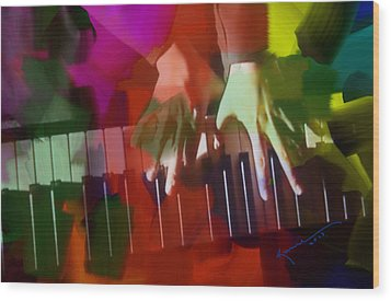 Colors Of Music Wood Print by Kume Bryant