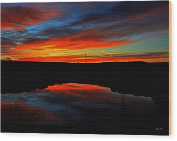 Colors Of Nature- Sunrise 002 Wood Print by George Bostian