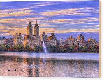 Colors Of New York Wood Print by Midori Chan