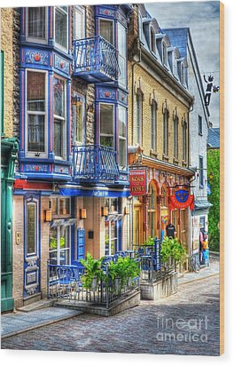 Colors Of Quebec 15 Wood Print by Mel Steinhauer