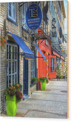 Colors Of Quebec Wood Print by Mel Steinhauer