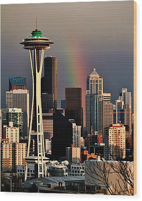 Colors Of Seattle Wood Print by Benjamin Yeager