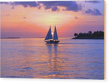 Colors Of Sunset Wood Print