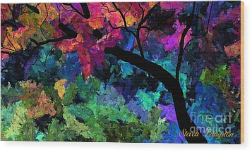Colors Of The Dream Wood Print by Steven Lebron Langston