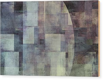 Colors Of Twilight Abstract Art Wood Print by Ann Powell