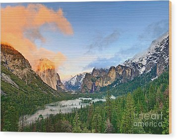Colors Of Yosemite Wood Print by Jamie Pham