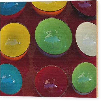 Colors Tray Wood Print by Dany Lison