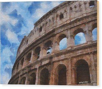 Colosseo Wood Print by Jeff Kolker