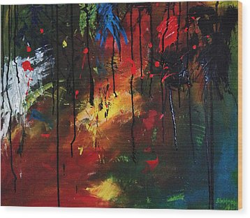 Colourful Tears Wood Print by Shakhenabat Kasana
