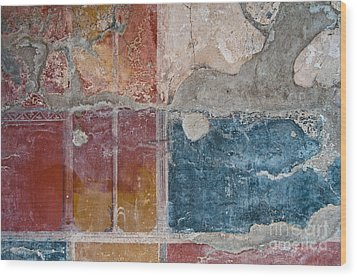 Colours Of Herculaneum Wood Print by Marion Galt
