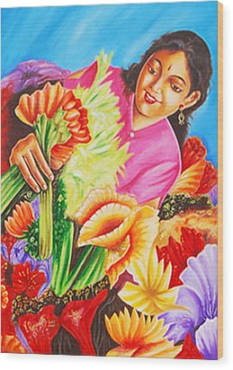 Colours Of Love - Hues Of Life Wood Print by Ragunath Venkatraman