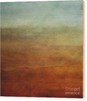 Colours Of The Fall Wood Print by Priska Wettstein