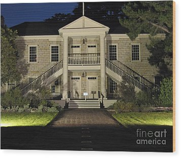 Colton Hall At Night Wood Print