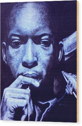 Coltrane Wood Print by Mike Underwood