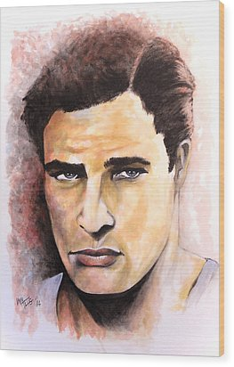 Coluda' Been A Contender - Brando Wood Print by William Walts
