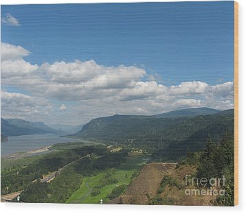 Columbia River Gorge Wood Print by Marlene Rose Besso