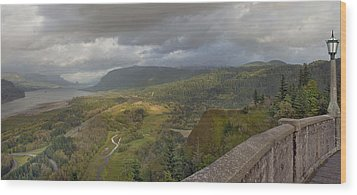 Wood Print featuring the photograph Columbia River Gorge View From Crown Point by JPLDesigns