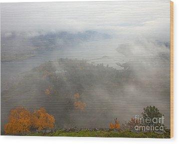 Columbia River Hidden Wood Print by Mike  Dawson