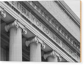 Columbia University Low Memorial Library Wood Print by University Icons