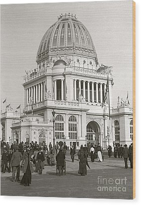 Wood Print featuring the photograph Columbian Exposition Chocolat 1893 by Martin Konopacki Restoration