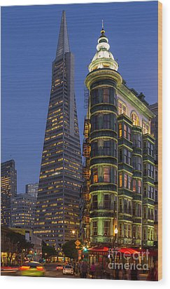 Columbus And Transamerica Buildings Wood Print by Jerry Fornarotto