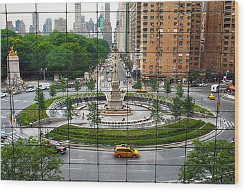 Columbus Circle Wood Print by Mitch Cat