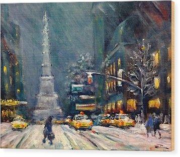 Columbus Circle Nyc Wood Print