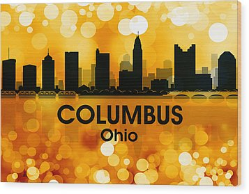 Columbus Oh 3 Wood Print by Angelina Vick