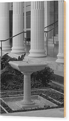 Column Entrance Wood Print by Ivete Basso Photography