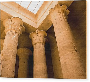 Column Head Art Wood Print