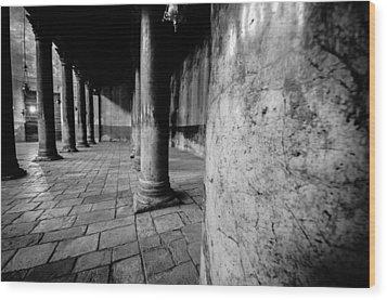 Columns At The Church Of Nativity Wood Print by David Morefield
