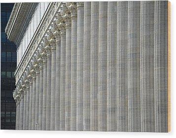 Columns Wood Print by John Schneider
