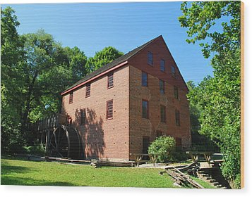 Wood Print featuring the photograph Colvin Run Grist Mill by Bob Sample