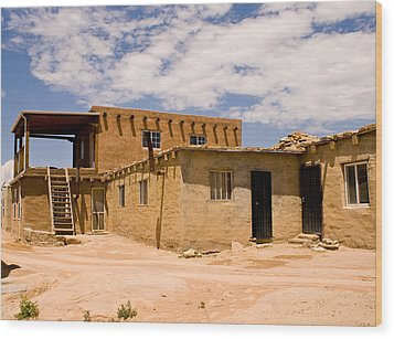 Acoma Pueblo Home Wood Print
