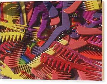 Wood Print featuring the photograph Combs by Rodney Lee Williams