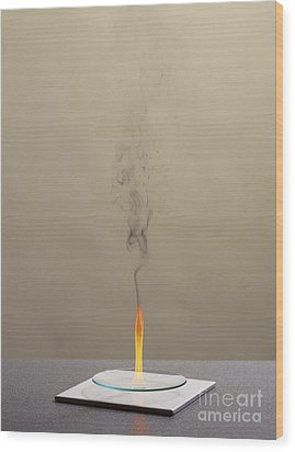 Combustion Of Cyclohexene Wood Print by Martyn F. Chillmaid