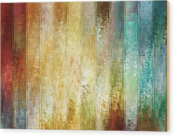 Come A Little Closer - Abstract Art Wood Print by Jaison Cianelli
