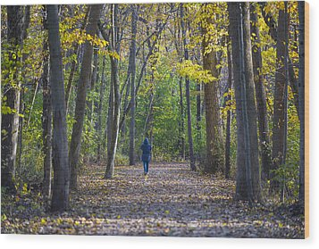 Wood Print featuring the photograph Come For A Walk by Sebastian Musial