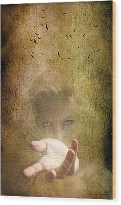 Wood Print featuring the photograph Come Into The Light by Yvonne Emerson AKA RavenSoul