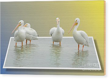 Come On In The Water Is Fine Wood Print by Mariarosa Rockefeller