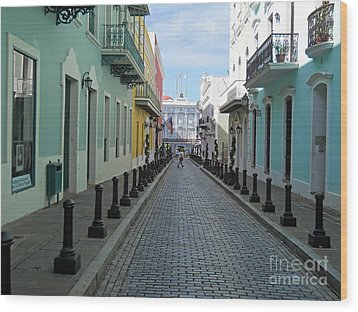 Wood Print featuring the photograph San Juan Puerto Rico by Roberta Byram