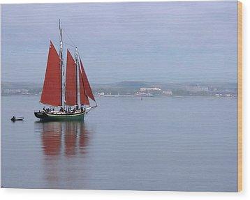Come Sail Away Wood Print by Karol Livote