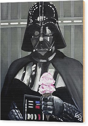 Come To The Dark Side... We Have Ice Cream. Wood Print