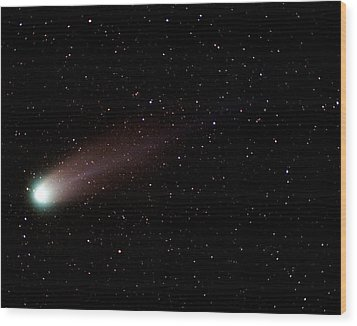 Wood Print featuring the photograph Comet Hyakutake by Christopher McKenzie
