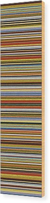 Comfortable Stripes Vll Wood Print by Michelle Calkins