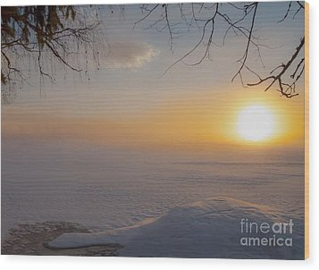 Wood Print featuring the photograph Comfortable Winter View by Rose-Maries Pictures